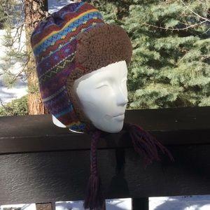 Muk Luks Sherpa Lined Braided Tassel Beanie Hat